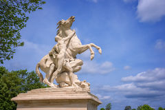 Marly horses, sculptures from 1745 in Marly France Stock Photos