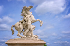 Marly horses, sculptures from 1745, Marly, France Stock Photo
