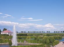 The Marly Palace and Garden of Peterhof Stock Photo