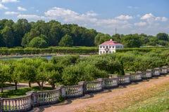 Marly palace in Peterhof garden Stock Image