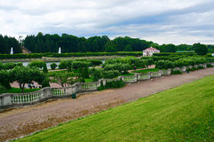 The Marly Palace in Peterhof (Petrodvorets). Saint-Petersburg, Russia Royalty Free Stock Photo