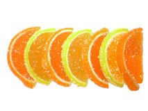 Marmalade. In the form of segments of lemon and orange Stock Images