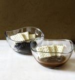 Marmalade in bowl Stock Photos