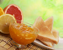 Marmalade for breakfast Stock Images