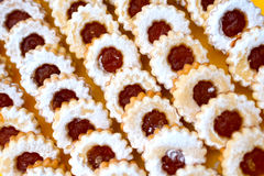 Marmalade cakes (linzer) Stock Photos