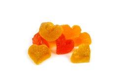 Marmalade colored hearts Stock Image