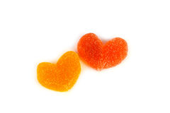 Marmalade colored hearts Royalty Free Stock Images