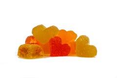 Marmalade colored hearts Royalty Free Stock Photo