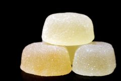 marmalade Doce de fruta do fruto da pera Doce de fruta no açúcar Produto culinário Sobremesa delicacy Gosto delicado fotos de stock