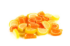 Marmalade in the form of lemon and orange slices Royalty Free Stock Photography