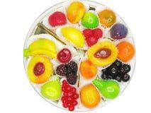 Marmalade gelatin fruits Stock Photo
