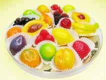 Marmalade gelatin fruits Royalty Free Stock Photo
