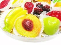 Marmalade gelatin fruits Stock Images