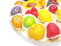 Marmalade gelatin fruits set Stock Photos
