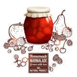 Marmalade Jar Concept Royalty Free Stock Image