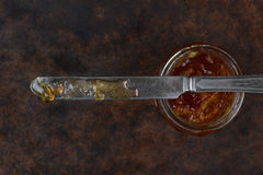 Marmalade and Knife Royalty Free Stock Photography