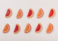 Marmalade slices of orange and grapefruit from Stock Photography