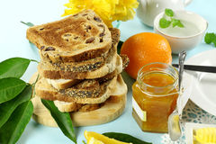 Marmalade And Toast Royalty Free Stock Image