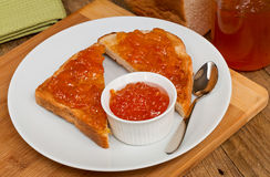 Marmalade on toast Stock Photo