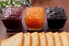 Marmalade Whit Toast Stock Photography
