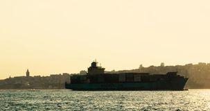 Marmara θάλασσα κατά τη διάρκεια του ηλιοβασιλέματος στη Ιστανμπούλ φιλμ μικρού μήκους