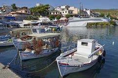 Marmara port. Scenic view of Neo Marmara, Greece stock image