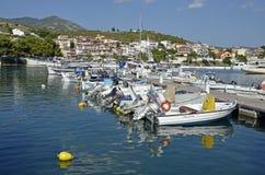 Marmara port. Scenic view of Neo Marmara, Greece royalty free stock image