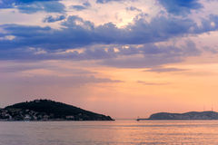 Marmara Sea over sunset Stock Image