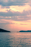 Marmara Sea over sunset Royalty Free Stock Images
