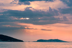 Marmara Sea over sunset Stock Photo