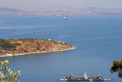 Marmara Sea views from the hilltop of the Princes' Islands Royalty Free Stock Photo