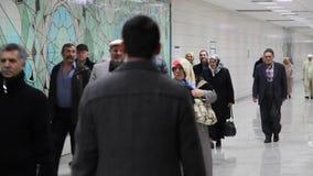 Marmaray地铁,乘客去火车站, 影视素材