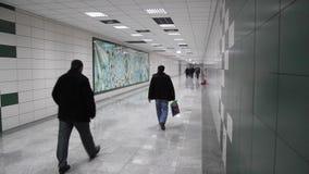 Marmaray地铁,乘客去火车站 股票录像