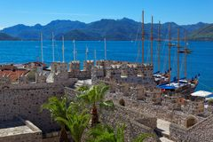 Marmaris Castle in Marmaris, Turkey Stock Images