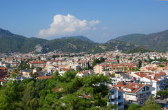 Marmaris - city view. The popular resort city of Marmaris in Turkey Royalty Free Stock Photography