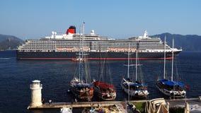 Marmaris, die Türkei - 28. Juli 2015 Schiffs-Königin Victoria Lizenzfreie Stockfotos
