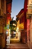 Marmaris gammal stad vid natten Turkiet Royaltyfria Foton