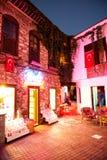 Marmaris gammal stad vid natten Turkiet Royaltyfri Foto