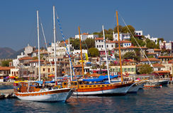 Marmaris Harbor royalty free stock photos