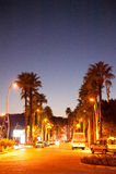 Marmaris main bulevard by night  Turkey. Marmaris main bulevard by night at the end of the season Turkey Stock Photography