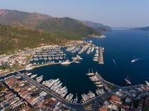 Marmaris marina in Turkey Royalty Free Stock Image