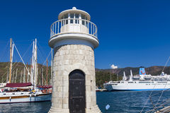Marmaris port. Yachts in the Marmaris port in Mugla province in Turkey. At 2013 more than 3 million tourists visited Mugla province royalty free stock photos