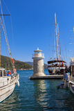Marmaris port. Yachts in the Marmaris port in Mugla province in Turkey. At 2013 more than 3 million tourists visited Mugla province stock image