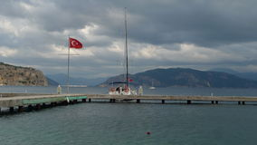 Marmaris on a stormy day in the month of March Royalty Free Stock Photos