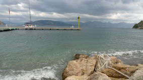 Marmaris on a stormy day in the month of March Stock Photos