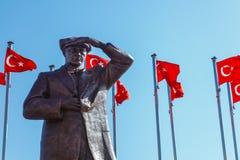 MARMARIS, TURQUIA - 19 DE SETEMBRO DE 2017: Uma parte superior de Mustafa Kemal Ata Foto de Stock