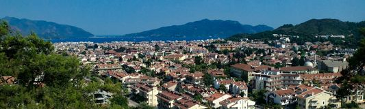 Marmaris, Turquia, panorama largo da cidade no verão Imagem de Stock
