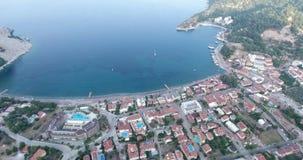 Marmaris Turunc Tourism Town Aerial Turkey. 4096x2160 stock footage