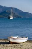 Marmaris und Boot Stockbild