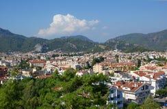 Marmaris - vista della città fotografia stock libera da diritti